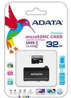 ADATA Micro SDHC karta 32GB UHS-I Class 10 + OTG čtečka USB 2.0, microUSB