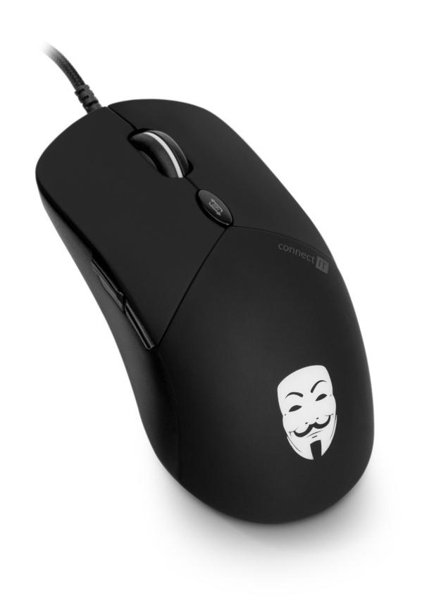 CONNECT IT ANONYMOUSE optická herní myš, USB, až 3200Dpi