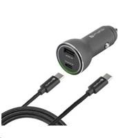4smarts nabíječka do auta Fast Charge, 1x USB + 1x USB-C, černá