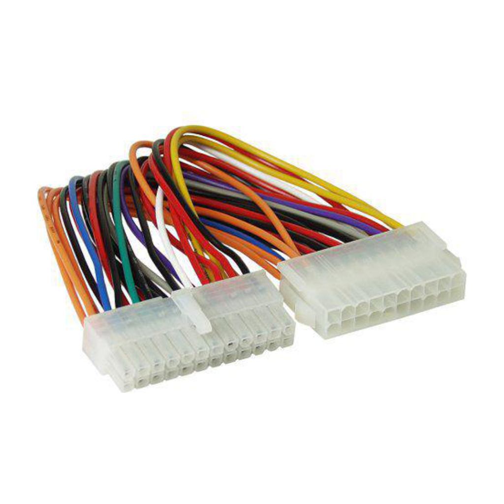 Adapter with cable Akyga AK-CA-66 20 pin (f) / P1 20+4 pin (m) 15cm