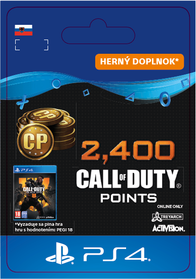 ESD SK PS4 - 2,400 Call of Duty®: Black Ops4Points