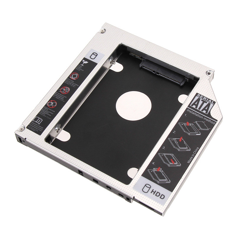 Akyga Notebook optical drive replacement AK-CA-56 5.25 to 2.5 HDD / SSD 12.7 mm