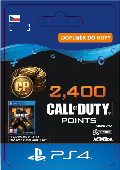 ESD CZ PS4 - 2,400 Call of Duty®: Black Ops4Points