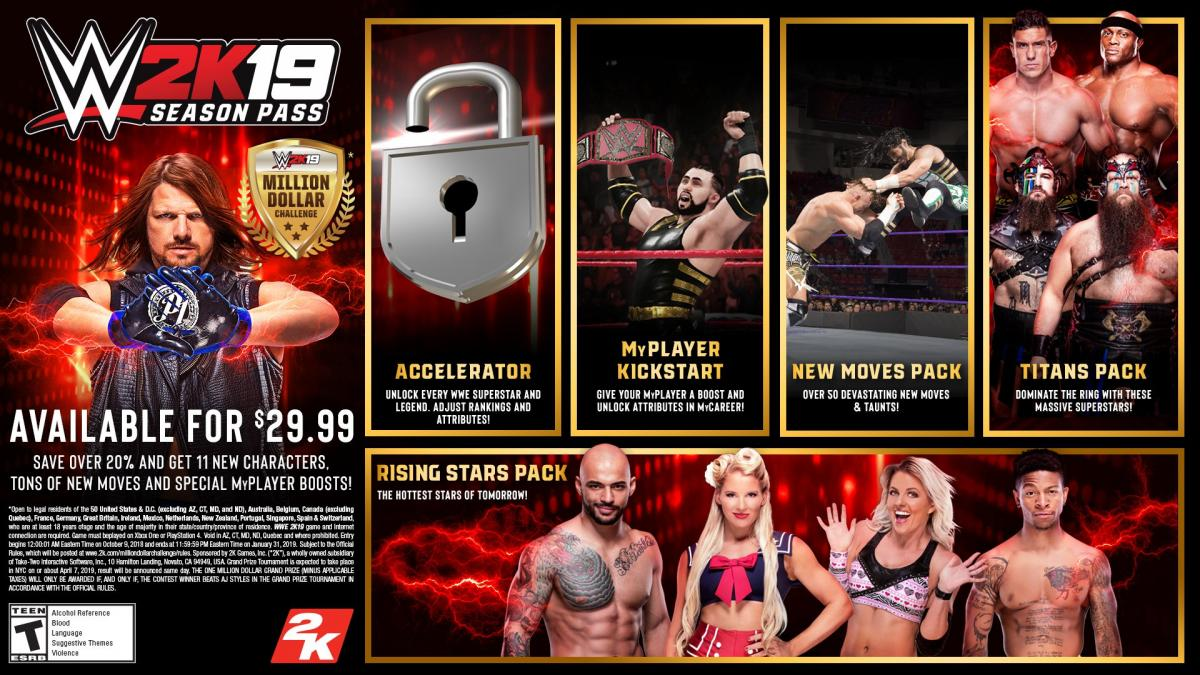 ESD CZ PS4 - COD: WWE 2K19 Season Pass