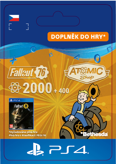 ESD CZ PS4 - Fallout 76: 2000 (+400 Bonus) Atoms