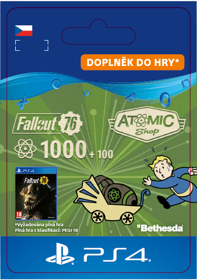 ESD CZ PS4 - Fallout 76: 1000 (+100 Bonus) Atoms
