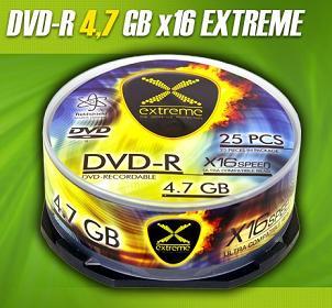 Extreme DVD-R [ cakebox 25   4.7GB   16x ]