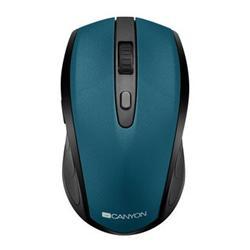 CANYON myš optická bezdrátová CMSW08, nastavitelné rozlišení 800/1200/1600 dpi, 2 in 1 (BT/ 2.4GHz), zelená