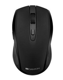 CANYON myš optická bezdrátová CMSW08, nastavitelné rozlišení 800/1200/1600 dpi, 2 in 1 (BT/ 2.4GHz), černá