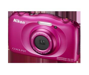 Nikon Coolpix S33 růžový, 13,2MPx, 3xOZ, 1080/30p BACKPACK KIT