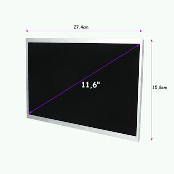 Qoltec LED displej 11.6'' 1366*768 GLOSSY Slim - 40Pin, GRADE A+