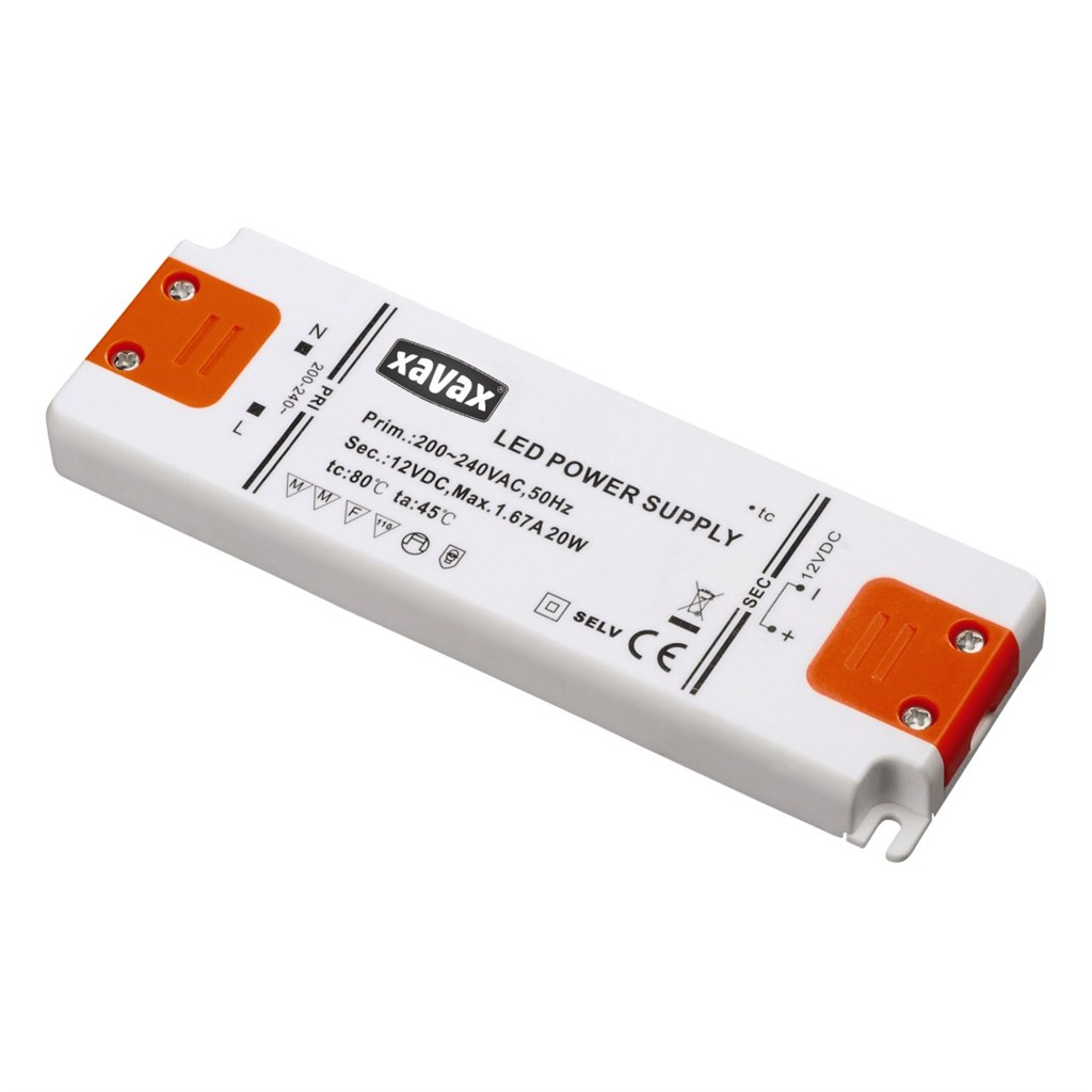 Xavax 20 W LED transformátor pro nízkonapěťové LED žárovky