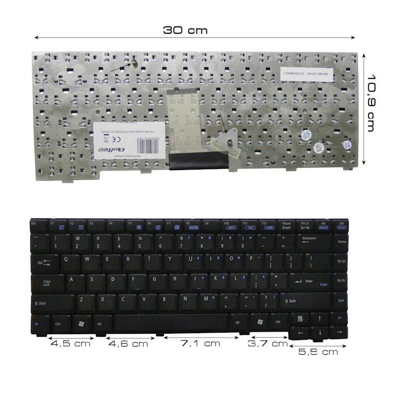 Qoltec Notebook Keyboard for Asus A3 A3000 A3N A6