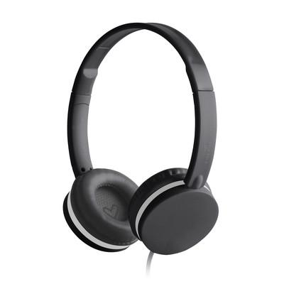 ENERGY Headphones Colors Black, circumauralní sluchátka s mikrofonem 105 dB, single jack 3,5mm