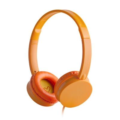 ENERGY Headphones Colors Tangerine, stylová circumauralní sluchátka 108 dB,3,5mm
