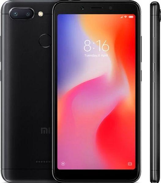 Xiaomi Redmi 6 Global Black/5,45´´ 1440x720 HD+/2GHz OC/3GB/64GB/SD/2xSIM/FP/12MPx+5MPx/3000mAh