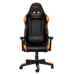 CANYON herní křeslo Deimos, PU kůže, kovový rám, 90-165°, 3D opěrka, plynový zdvih třídy 4, černo-oranžová