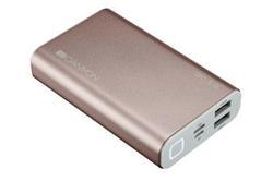 CANYON powerbanka 10000 mAh, quick charge, Lithium Polymer, růžová (rose gold)