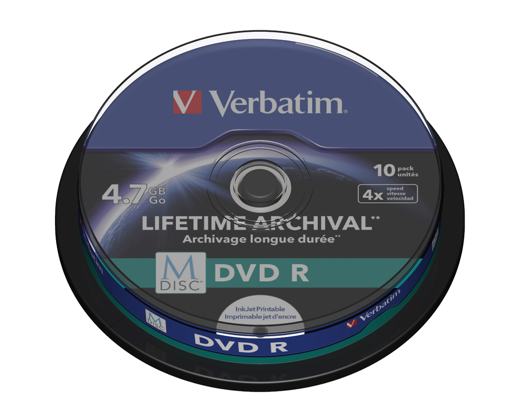 VERBATIM M-Disc DVD R(10-pack)Spindle/4x/4.7GB