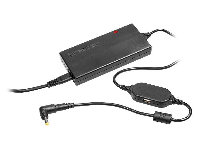 Tracer Black Box 90S USB univerzální napájecí adaptér pro notebooky 90W (9 konc.