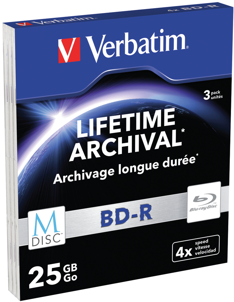 VERBATIM M-Disc BD-R(3-pack)Slim/4x/25GB
