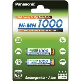 4HGAE/2BE AAA 2x 1000 PANASONIC