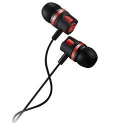 CANYON stereo sluchátka, špunty do uší, černo červená