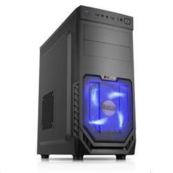 1stCOOL JAZZ 2, skříň ATX, blue fan, USB3.0, černá