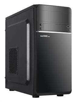 1stCOOL STEP 1, ver.2, skříň mATX, USB2.0+USB3.0, černá
