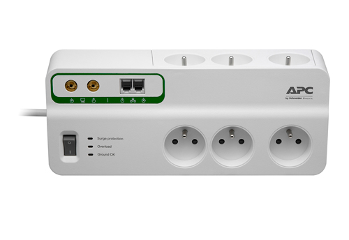 APC Home/Office SurgeArrest 6 Outlets with Phone and Coax Protection 230V France