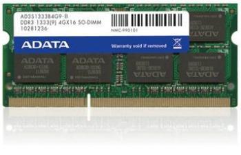 SO-DIMM 4GB DDR3 1333MHz C9 ADATA retail SR