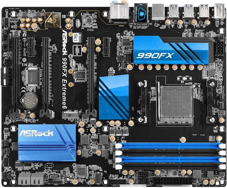 ASRock 990FX EXTREME6, 990FX, SB950, DualDDR3-1600, SATA3, RAID, ATX