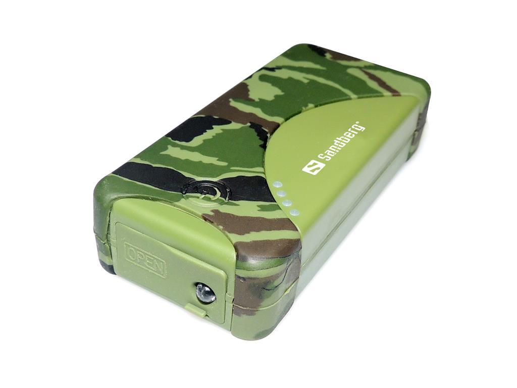 Sandberg Outdoor Power Bank 5200mAh přenosná baterie, voděodolná, maskáčová