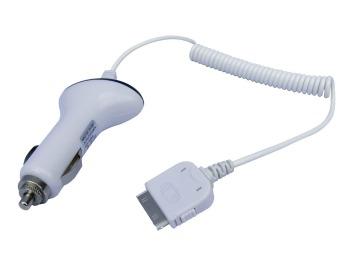 Sandberg autonabíječka pro iPhone nebo iPod, 1000mA, 30pin, bílá