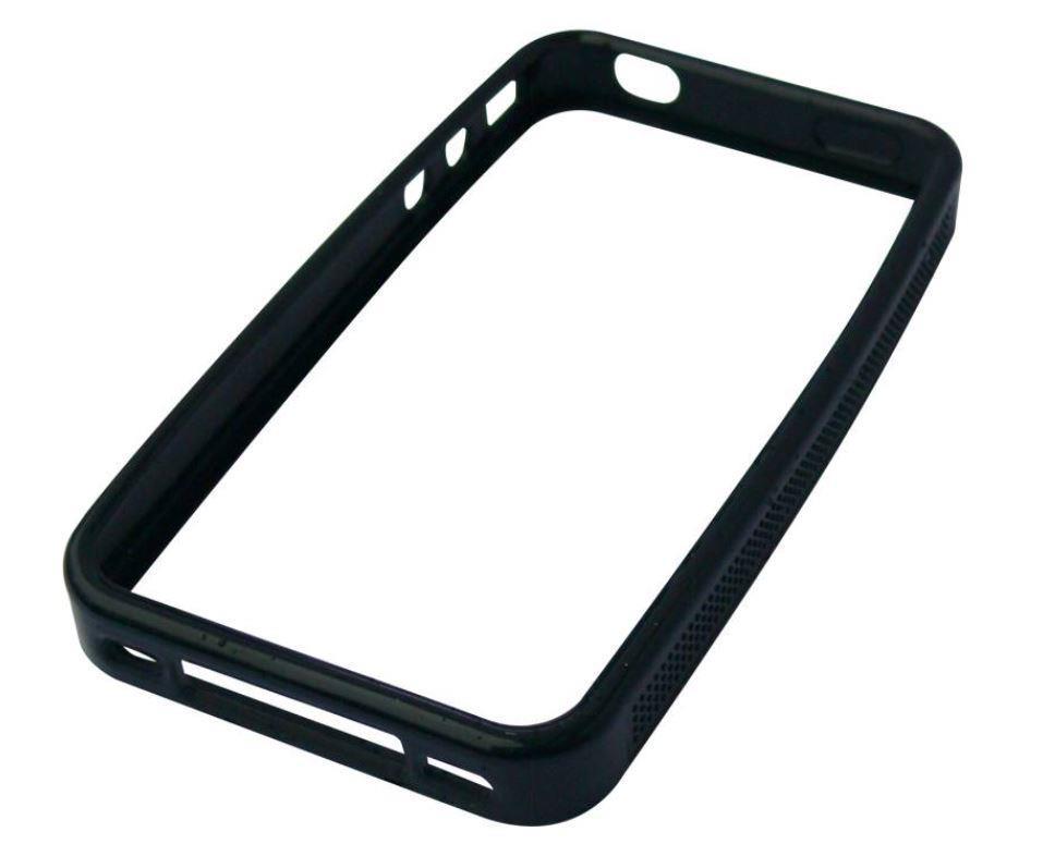 Sandberg ochranný rám na iPhone 4/4S, měkký silikon, černý