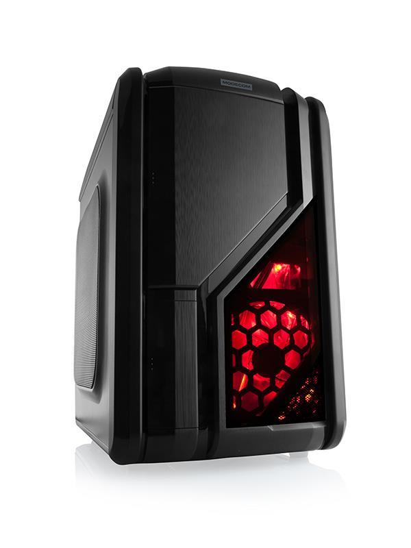 MODECOM PC skříň QUATTRO, bez zdroje (černá)