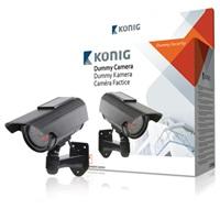 KÖNIG Atrapa CCTV kamery se solárním panelem a 30 IR LED - SAS-DUMMYCAM90*