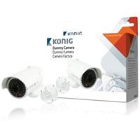 König atrapa venkovní kamery s vestavěnou blikající LED