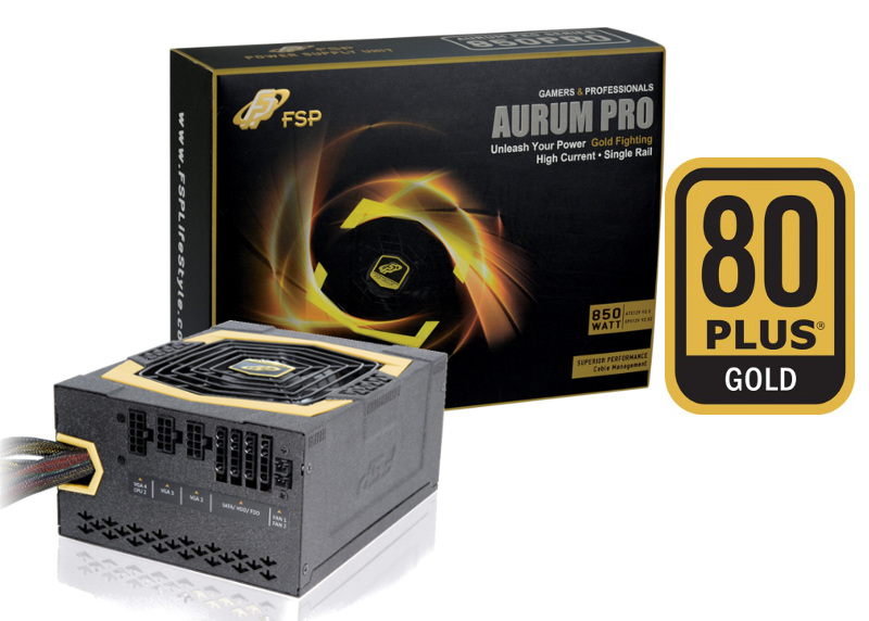 Fortron AURUM PRO 850W 80PLUS GOLD, modular
