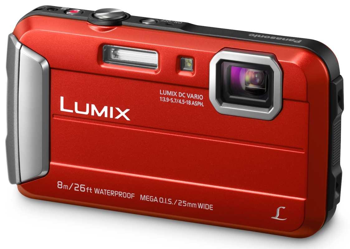 Panasonic DMC-FT30EP-R, 16Mpx, 4x zoom 25mm OIS, HD, vodotěsný 8m, červený