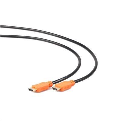 Kabel GEMBIRD HDMI-HDMI 1,8m, 1.4, M/M stíněný, zlacené kontakty, CCS, ethernet, černý