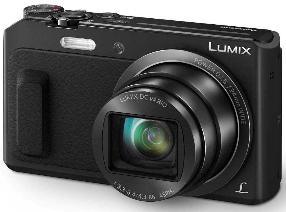 Panasonic DMC-TZ57EP-K, 16 Mpx MOS, 20x zoom 24mm POIS, Full HD, WiFi, černá