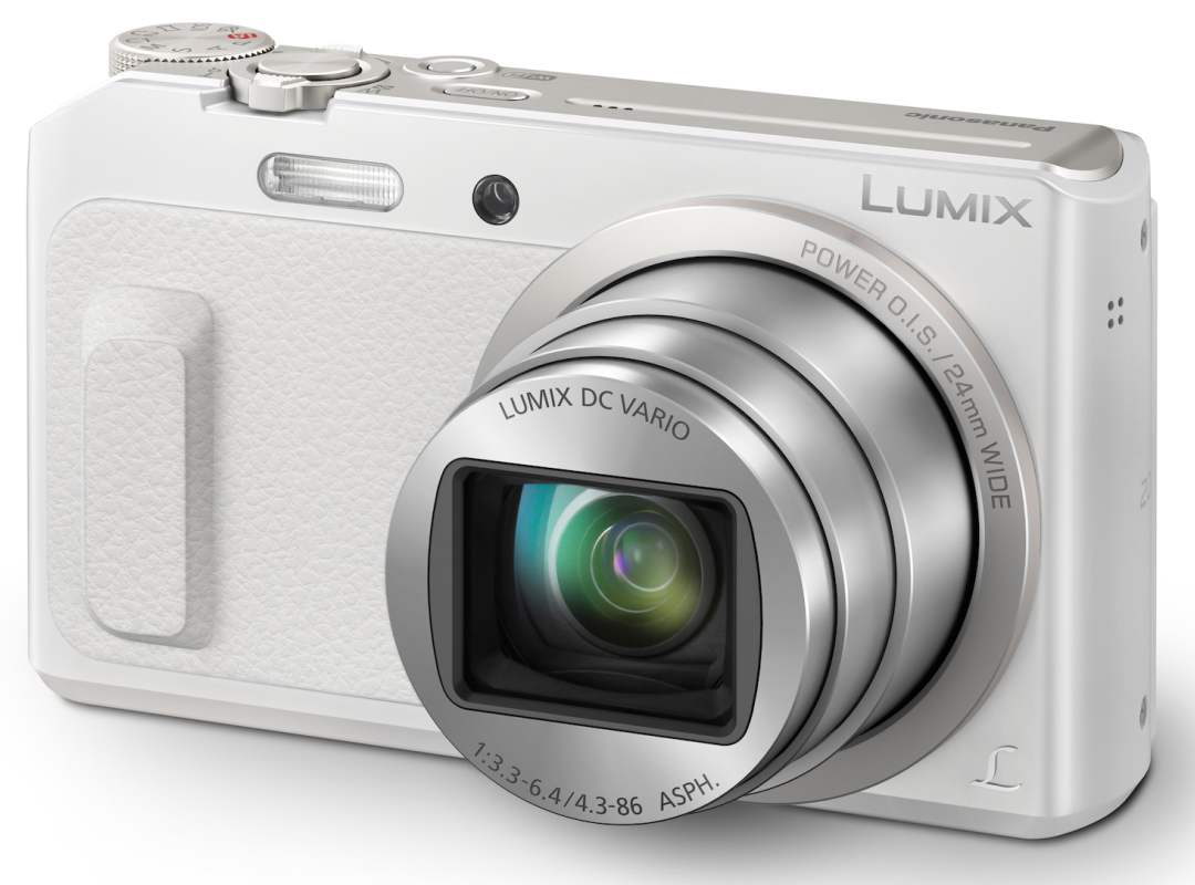 Panasonic DMC-TZ57EP-W, 16 Mpx MOS, 20x zoom 24mm POIS, Full HD, WiFi, bílá