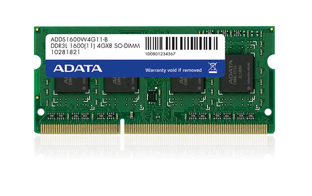 ADATA 8GB 1600MHz DDR3L CL11 SODIMM 1.35V Retail