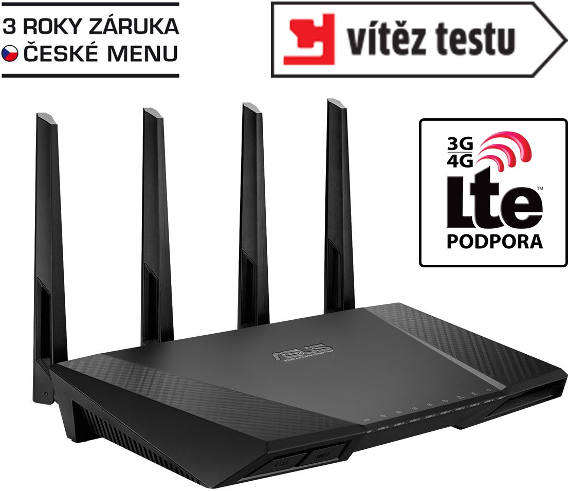 ASUS AC2400 router dualB dual-core 3G/4G RT-AC87U