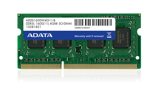 SO-DIMM 4GB DDR3L-1600MHz ADATA CL11 1,35V