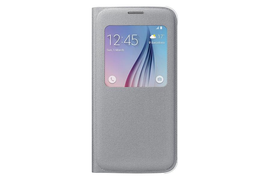 Samsung flipové pouzdro S-view EF-CG920B pro Samsung Galaxy S6 (SM-G920F), Stříbrná