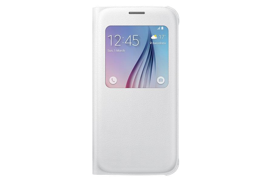Samsung flipové pouzdro S-view EF-CG920P pro Samsung Galaxy S6 (SM-G920F), Bílá