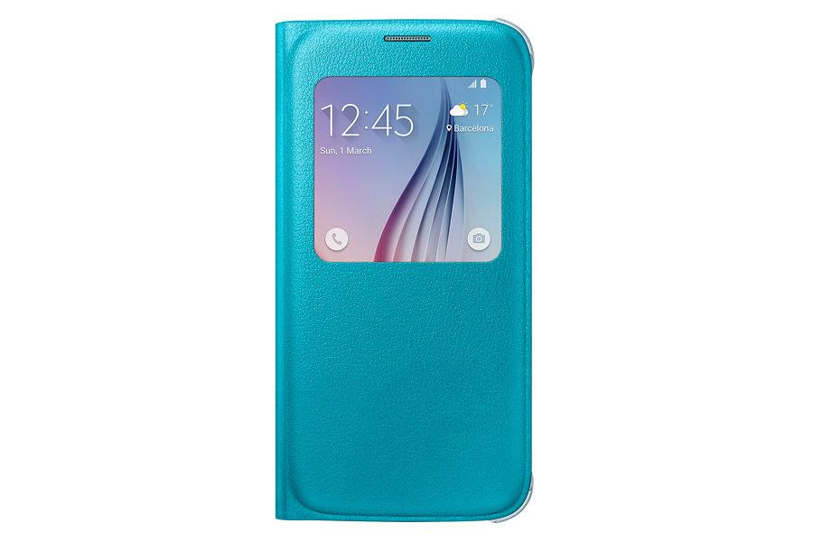 Samsung flipové pouzdro S-view EF-CG920P pro Samsung Galaxy S6 (SM-G920F), Modrá