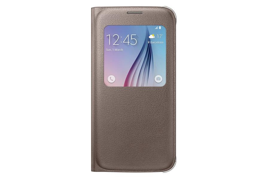 Samsung flipové pouzdro S-view EF-CG920P pro Samsung Galaxy S6 (SM-G920F), Zlatá